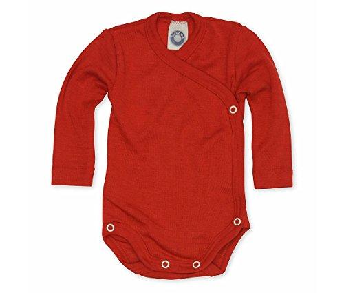 Cosilana Baby Wickelbody aus 70% Wolle und 30% Seide (Rot, 50-56)