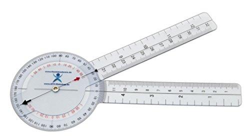 Winkelmesser | Gelenkmesser | Goniometer aus Kunststoff, Länge: 20 cm
