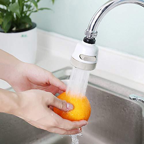 SWENROU Hochdruck-Drehhahn Spritzfilter-Küche Bad Dusche Wasserhahn Spritzfilter, einstellbare Wasserhahn Wasserspardüse
