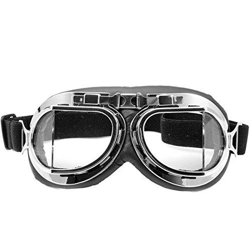 Raf Pilot cazas militares volando motocicleta para personas movilidad proceso evolutivo motorista Ojo Motocross para proteger cruceros sobre puesta careta repuesto gafas cromo del marco,Claro