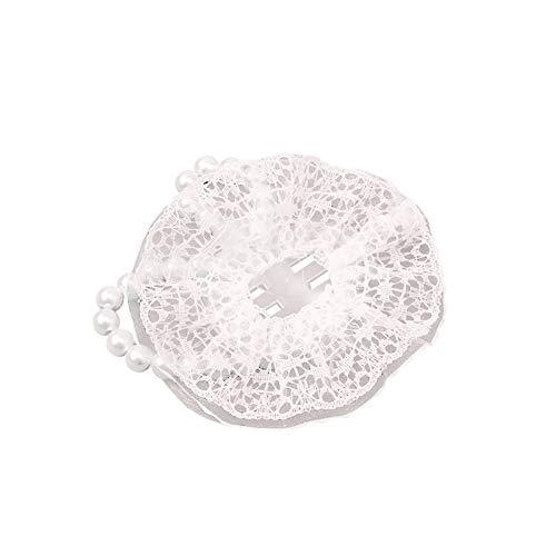 JIHUOO 5 pulseras elásticas de encaje y perlas, pulseras de ramillete accesorios para bodas, bailes de graduación