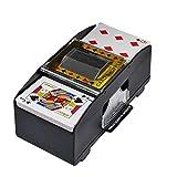 YAMOKOS Deluxe Manual Card Shuffler (2-Deck) Playing Poker Cards Shuffling Machine Plastic Battery Operated Automatic Shuffler Great for Home & Tournament Use