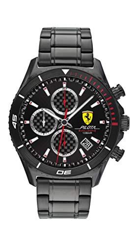 Scuderia Ferrari Herren Analog Quarz Uhr mit Edelstahl Armband 830771