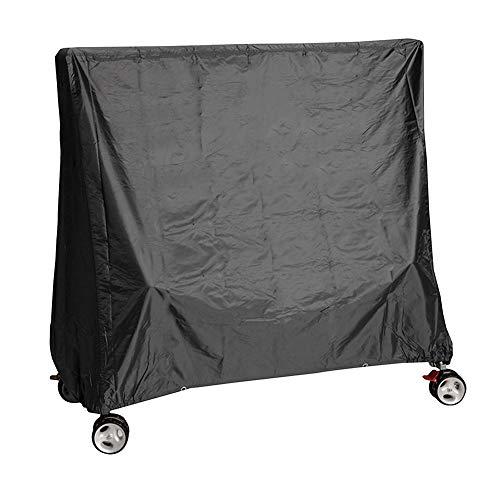 LDIW afdekking voor tafeltennistafel, 190T polyester tafeltennistafdekking beschermhoes voor tafeltennistafel weerbescherming UV-bescherming 155x75x150cm zwart