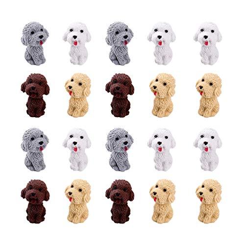 NUOBESTY 20 gomas de borrar con forma de perro, juego de papelería pa
