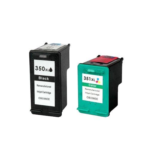 Pack Cartuchos Tinta Compatible para HP 350 XL / 351 XL/Negro y Tricolor