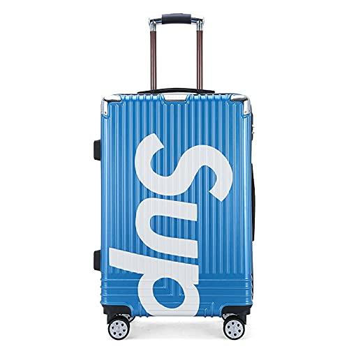 Trolley case, Universal Wheel Bagagli, Valigia impermeabile, bagaglio resistente all'usura, valigia bagagli, rimorchio Box argento oro rosa nero oro blu dimensioni: 20', 24'