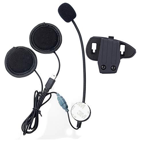 Accesorio para sistemas de comunicación mediante auricular para casco de motocicleta, con clip, para interfono con Bluetooth serie V8