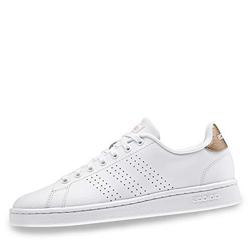 adidas Advantage Sh, Scarpe da Ginnastica Donna, Bianco (Cloud White/Cloud White/Copper Metalic), 38 EU
