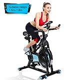 alvorog Indoor Fitness Fahrrad Heimtrainer Cycle Indoorcycling Bike mit LCD Monitor, Fahrradtrainer, Cardio-Bike