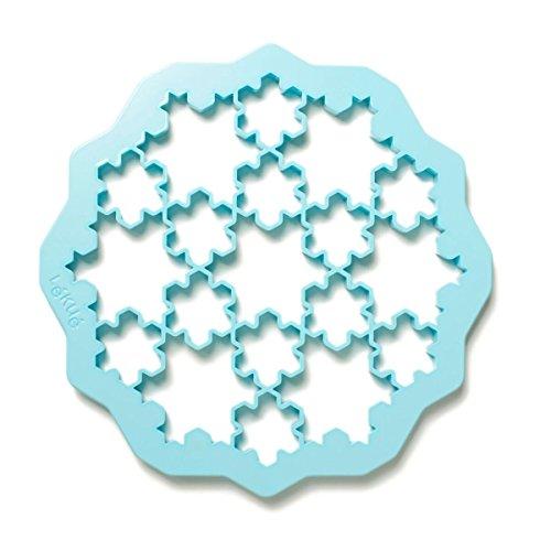 Lékué Keksausstecher Puzzle Schnee, Kunststoff, Bunt, 24.3 cm