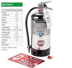 commercial Buckeye K Class, WC-6liter 1-A: Class K Kitchen Fire Extinguisher, Marking. class k fire extinguishers