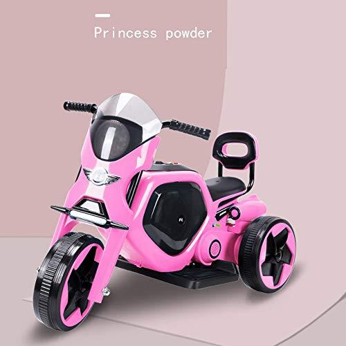 George zhang Moto pour Enfants pulvérisation électrique Flash Musique Volume réglable Taille garçons et Filles Scooter à Trois Roues,Pink