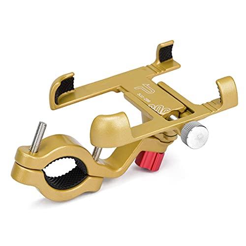 Halllo Soporte de teléfono para bicicleta de aleación de aluminio, ajustable, antideslizante, accesorio para bicicleta