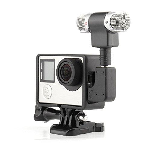 RONSHIN Mini Stereo Microfoon Standaard Frame Case voor Gopro Hero 4 3+3 USB naar 3.5mm Mic Adapter Kabel
