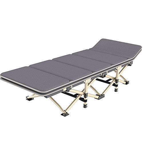 WYX Tragbares Klappbett Klappbetten Für Gäste Mit Aufklappbaren Matratzen Klappsessel Für Campingreisen,Gray