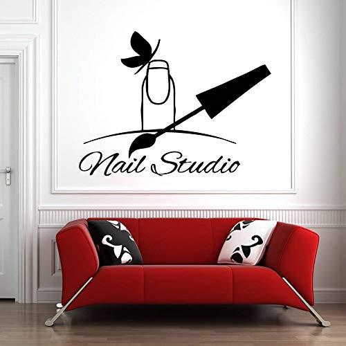 Nagel Salon Wandtattoo Nagel Maniküre Polieren Nagel Pediküre Salon Dekoration Aufkleber 42 * 32cm