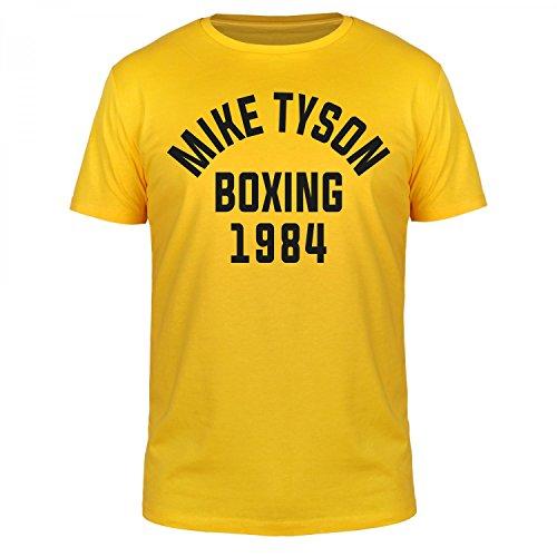 FABTEE - Mike Tyson Boxing 1984 - Herren T-Shirt Größen S-4XL, Größe:M, Farbe:Gelb