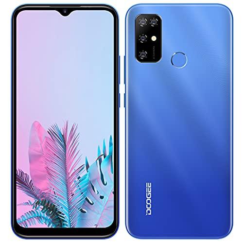 Smartphone Libre, DOOGEE X96 Pro Android 11 Teléfono Móvil, Pantalla HD+ 6.52' DotDisplay, 5400 mAh, 4GB + 64GB (SD 256GB), Cámara Cuádruple de 13 MP, Dual SIM Moviles Libres Baratos, GPS, OTG (Azul)