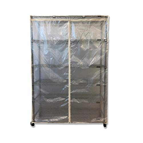 Formosa Covers Storage Shelving Unit Cover See Through Mesh PVC, fits Racks 36' Wx14 Dx54 H All Mesh PVC (Cover only)
