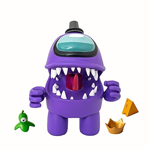 Bizak-  Among Us Mega Figura Pack 1 en Caja Morado (64116500),  Multicolor