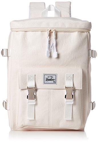 [メジャーリーグベースボール] ヤンキース リュック スクエア PU YK-MBBK61(S) WHITE One Size