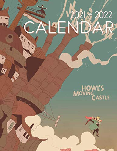 Howl's Moving Castle Calendar 2021-2022: Anime 18-month Calendar 2021-2022 with 8.5x11 inches size - Exclusive Illustrations!