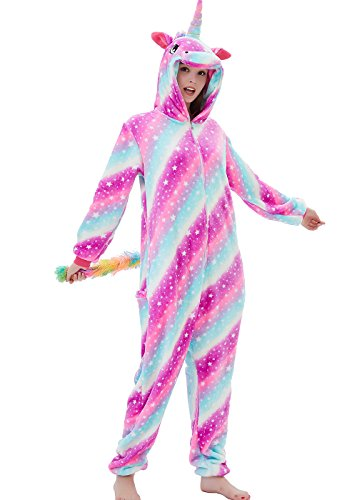 ABENCA Fleece Unicorn Onesie Adult Pajamas for Women Cartoon Animal...
