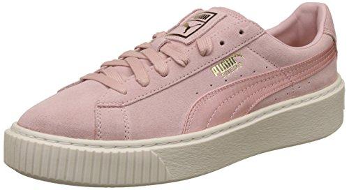 Puma Suede Platform Mono Satin W Scarpa Silver Pink