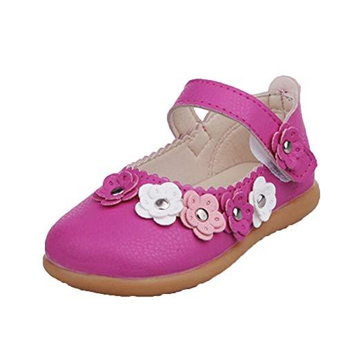 Kinderprinzessin Sandalen Frühling und Herbst Kinder Leder Blumen Sandalen Schule Schuhe rutschfeste Flache Schuhe