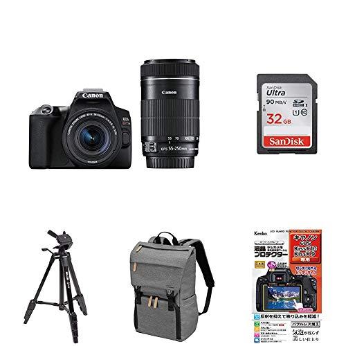 Canon デジタル一眼レフカメラ EOS Kiss X10 ダブルズームキット ブラック EOSKISSX10BK-WKIT アクセサリー5点セット