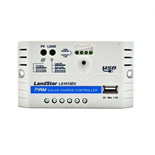 LANDSTAR EPEVER® LS1012EU PWM Laderegler charge controller 10A, 12V mit USB Anschluss