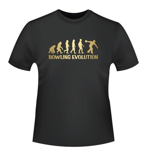 Bowling Shirt Herren Evolution - Funshirt - Tshirt - T-Shirt/Hemd - Gr.XL