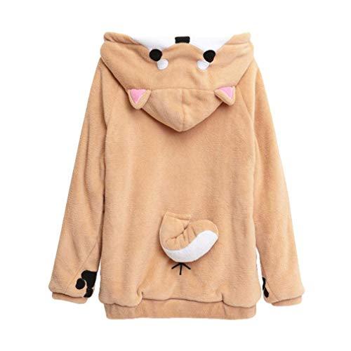 Niñas Cute Kawaii Doge Fleece Ropa Hoodie Festiva Muco Traje De Manga Larga Jerseys Sudaderas Top Blusa Chándales (Color : Wie Gezeigt, Size : S)