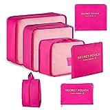 Newdora 7 teilig Kleidertaschen Set,Packing Cubes, Kleidertaschen Verpackungswürfel,...