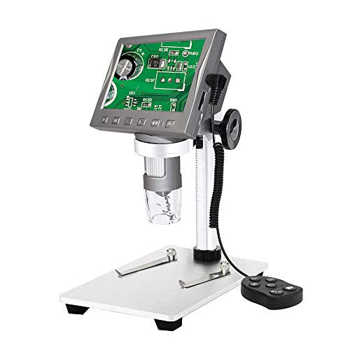 LCD Digital Microscope 4.3 inch 50X-1000X Magnification Zoom HD 1920x1080P 3Megapixels Compound Sony Lens USB/HDMI/WiFi Microscopic 8 Adjustable LED Light Video Camera Microscope