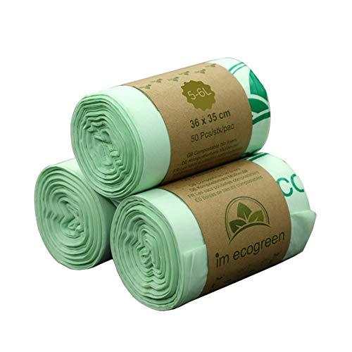 Sacs poubelle jetables biodégradables pour cuisine, cour, pelouse, entrepreneur, conciergerie ou bureau 10L comme sur l'image