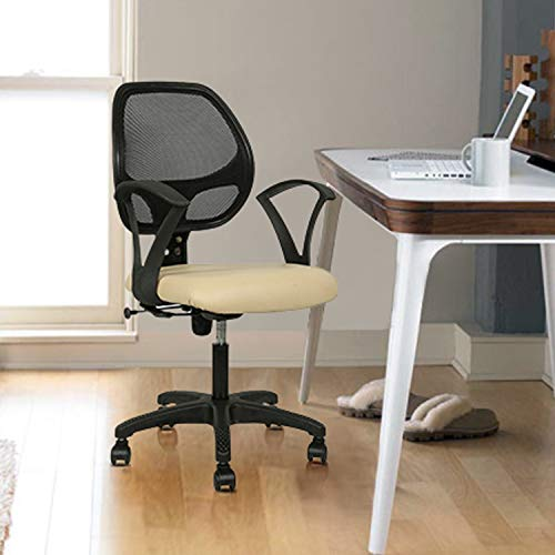 TIMBER CHEESE Ergonomic Chair (Mesh ,Beige,1 Piece)