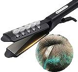 2021 Nueva plancha de pelo Plancha plana Hot Four Gear Vapor Cerámica Turmalina Ionic Glider, para todo tipo de cabello