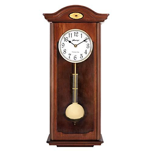 Decoración de muebles Reloj de madera de abuelo Reloj de pared de péndulo antiguo Música Reloj de pared de escritorio retro Mecanismo de diseño moderno Sala de estar Decoración de casa de campo Hog