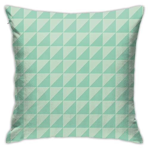 Moshow Fundas de Almohada Fundas de Cojines decoración Triángulo geométrico Verde en el sofá Cama del Coche 45X45 CM