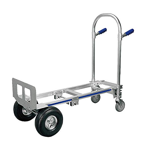 XiuHUa Hand kar, opvouwbare draagbare winkelwagen magazijn hoge belasting lager dikke pull cart aluminium legering truck, grootte 118X52X103cm materiaal handling 118X52X103cm