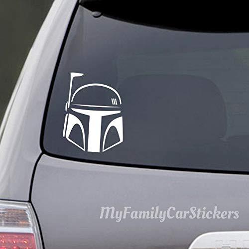 Boba Fett Helmet Decal - Boba Fett Helmet Sticker - Boba Fett Car Decal - Boba Fett Laptop Sticker - Star Wars Decal