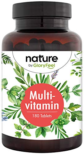 Highly Bioavailable Multivitamin Tablets for Women & Men 1-Daily - 180 Vegan Tablets - All Valuable Vitamins & Minerals A-Z - Premium Vitamin Complex for 6 Months Supply
