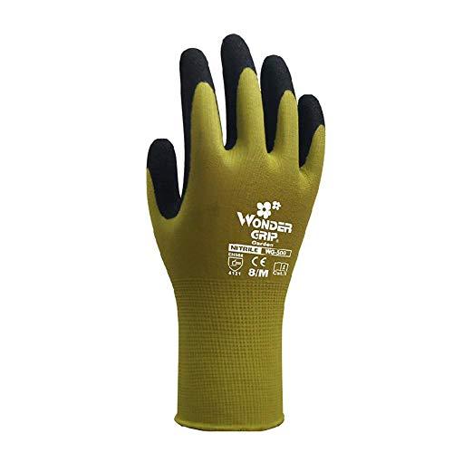 Difan Guantes de jardín antipinchazos y anticortes resistentes al desgaste y antiestiramiento guantes protectores para cultivo de jardín, verde