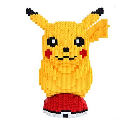 Conjunto de bloques de construcción Pikachu Micro diamante Partículas pequeñas Ensamblar colección de juguetes para niños adultos Adornos de bricolaje Decoraciones para el hogar Bloques de construcc