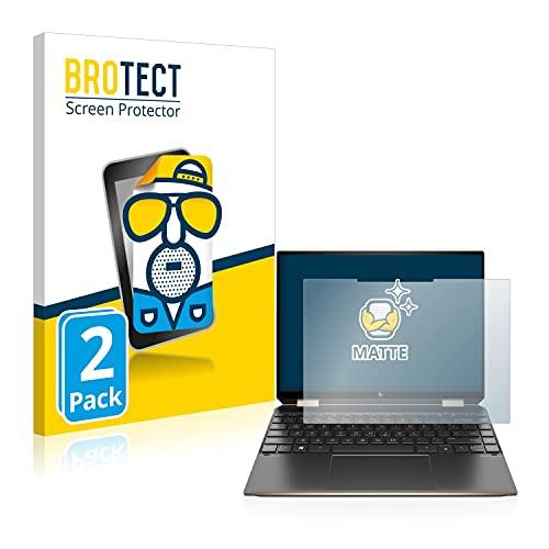 BROTECT 2X Entspiegelungs-Schutzfolie kompatibel mit HP Spectre x360 Bildschirmschutz-Folie Matt, Anti-Reflex, Anti-Fingerprint