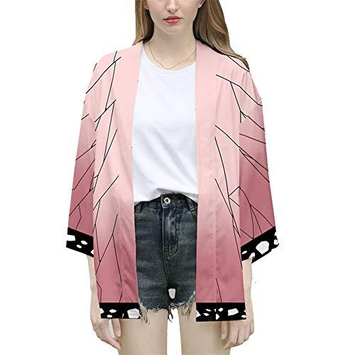 WYX 2019 Neue Japanische Kimono Cardigan Männer Traditionelle Yukata Kimono Print Lange Kimono Cardigan Herren-Bekleidung Jacke,h,M