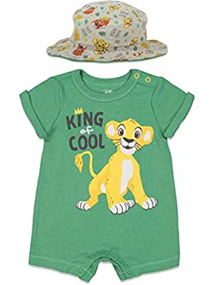 Disney Lion King Baby Boys Romper & Sunhat Set 18 Months Green from Bentex Group Inc.