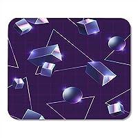 長方形のマウスパッドラバーミニVaporwave 80パターンスペースネオンマイアミファンキーなマウスパッドスムーズなゲームノートブックコンピューターアクセサリーバッキング